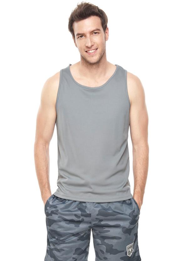 男運動風雙色拼接窄肩背心