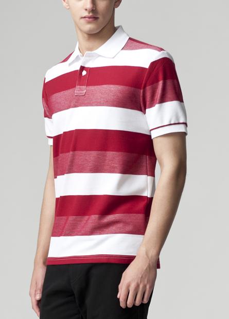 彩色条纹polo衫