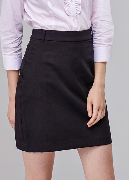 上班族斜袋短裙