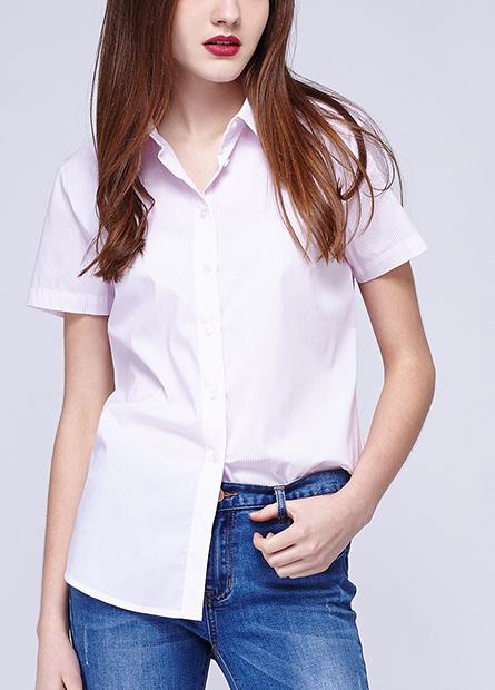 素色條紋格紋上班族襯衫