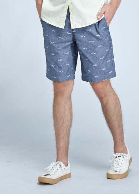 印花百慕達短褲
