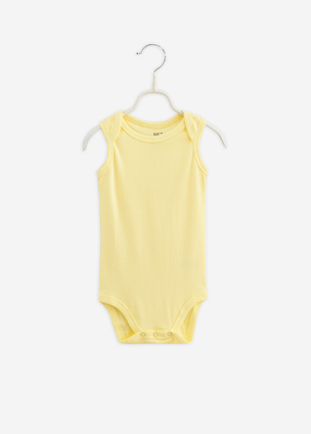 女嬰兒素色無袖包臀衣